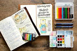 トラベラーズノートに絵を描くのにおすすめの道具をセレクトしました トラベラーズノートに絵を描こう