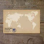 TF ポストカード 世界白地図柄 (07100083)