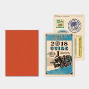 トラベラーズノート パスポートサイズ リフィル 2018 月間