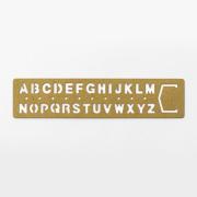TRC ブラス テンプレートブックマーク アルファベット